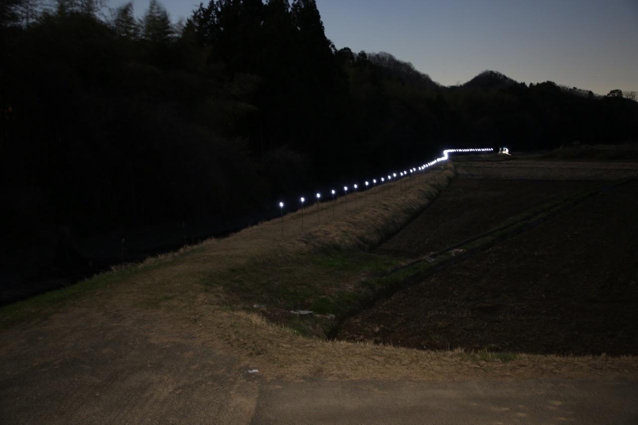 ミライノデンキ公開実験-starry-night